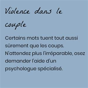 La violence dans le couple NICE Jannick BOUBLI